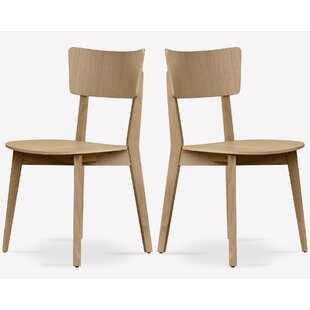 George Oliver Baril Solid Wood Dining Chair (Set of 2)