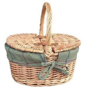 Oval Picnic Basket With Lining By Brambly Cottage
