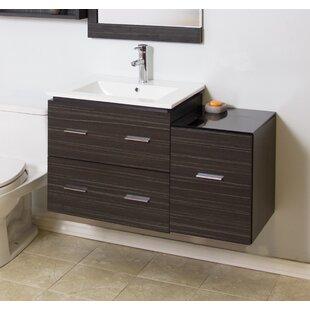 38 Single Modern Wall Mount Bathroom Vanity Set by American Imaginations