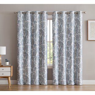 Dossantos Amalfi Paisley Max Blackout Thermal Grommet Curtain Panels (Set of 2) by Darby Home Co