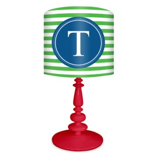 Striped Custome Monogram 21 Table Lamp