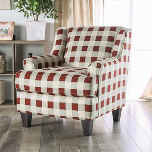 WoodWard Swain Striped Armchair by Canora Grey