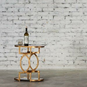 Regena Iron Gothic End Table by Everly Quinn