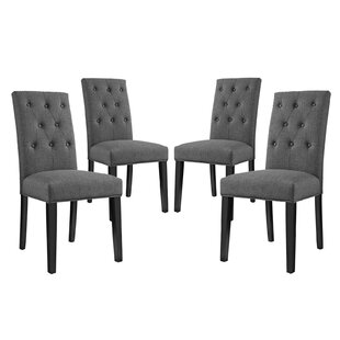 Androscogin Upholstered Dining Chair (Set of 4) by Charlton Home