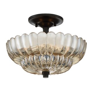 Bosworth 3-Light Semi Flush Mount by Rosdorf Park