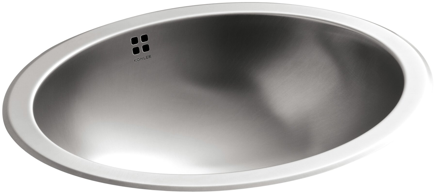 Kohler Bachata Oval Undermount Bathroom Sink With Overflow