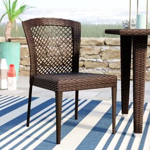 Beachcrest Home Caraquet Stacking Patio Dining Chair (Set of 2)