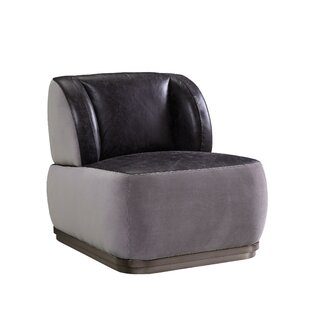 Snavely Leatherette Wingback Chair