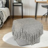 Sigala Tasseled Cube Ottoman by Bungalow Rose