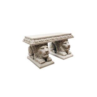 Design Toscano Grand Lion of St. John's Square Stone Garden Bench