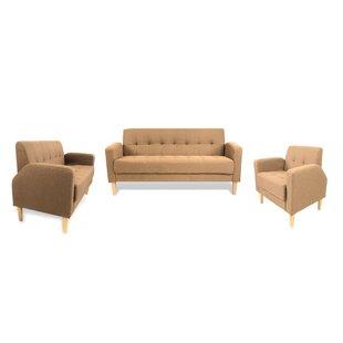Strange Knowlton Mid Century 3 Piece Living Room Set Machost Co Dining Chair Design Ideas Machostcouk