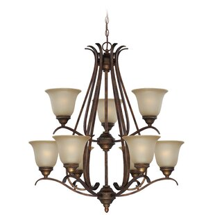 Darby Home Co Pottersmoor 9-Light Shaded Chandelier