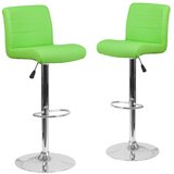 Nusbaum Adjustable Height Swivel Bar Stool (Set of 2) by Orren Ellis