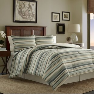 Canvas Stripe 3 Piece Comforter Set by Tommy Bahama Bedding by Tommy Bahama Home