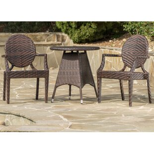 Zahir Outdoor Wicker Bistro Set