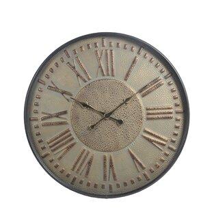 Flanagan Oversized Tan Metal 31.5 Wall Clock by DarHome Co