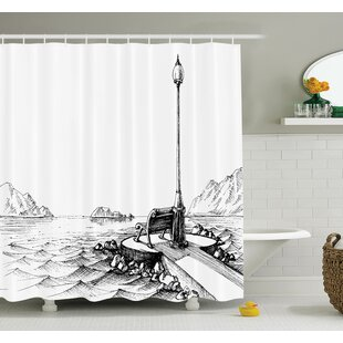 Sun Moon Vintage Shower Curtain Set