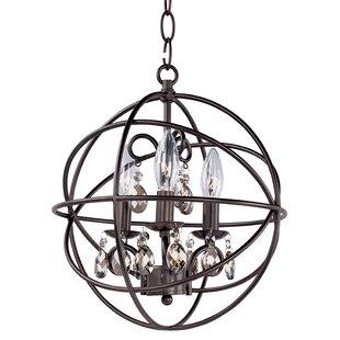 Alden 3-Light Globe Chandelier by Willa Arlo Interiors