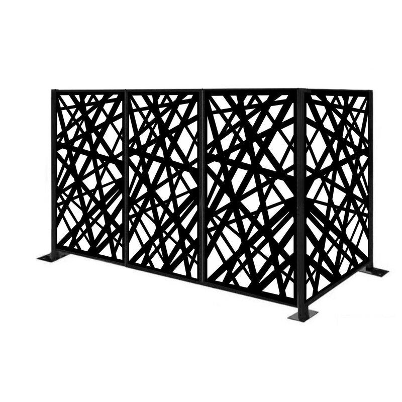 Porpora 4 5 Ft H X 6 Ft W Freestanding Metal Fencing Wayfair