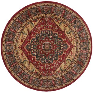 Pennypacker Beige/Red Area Rug by Astoria Grand