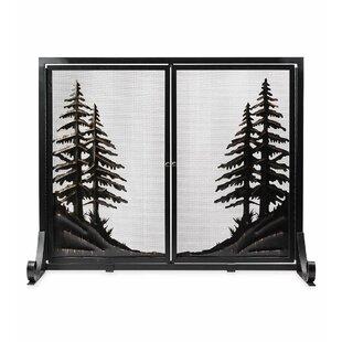 Alpine Single Panel Steel Fireplace Screen by Plow & Hearth