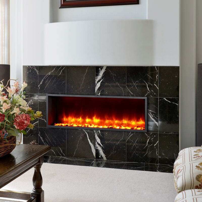 Dynasty 44 Builtin LED Wall Mount Electric Fireplace Insert