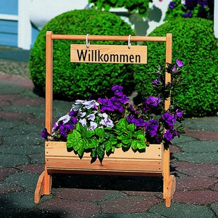 Willkommen Wooden Raised Flower Bed By Freeport Park