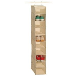 Natural Canvas Storage 10-Compartment Hanging Shoe Organizer By Richards Homewares