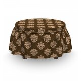 Antique Motifs Ottoman Slipcover (Set of 2) by East Urban Home
