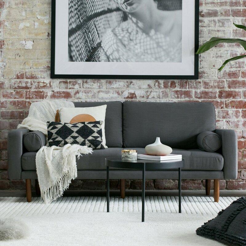 Wayfair | Capsule Home Mid Century Sofa