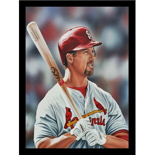'Mark McGwire St. Louis Cardinals' Print Poster by Darryl Vlasak Framed Memorabilia by Buy Art For Less