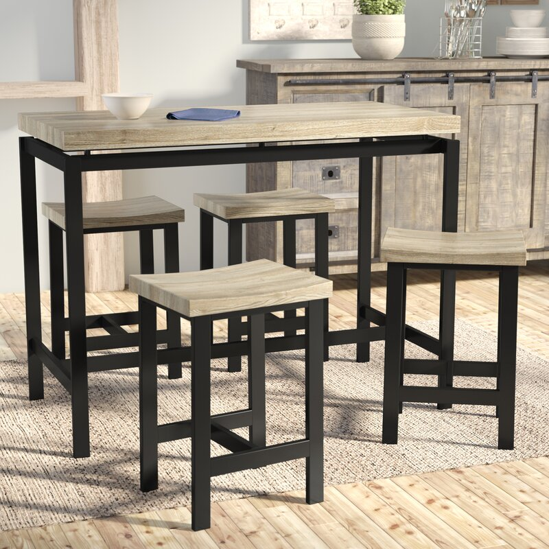 Kitchen Pub Table Laurel foundry modern farmhouse bourges 5 piece pub table set bourges 5 piece pub table set workwithnaturefo