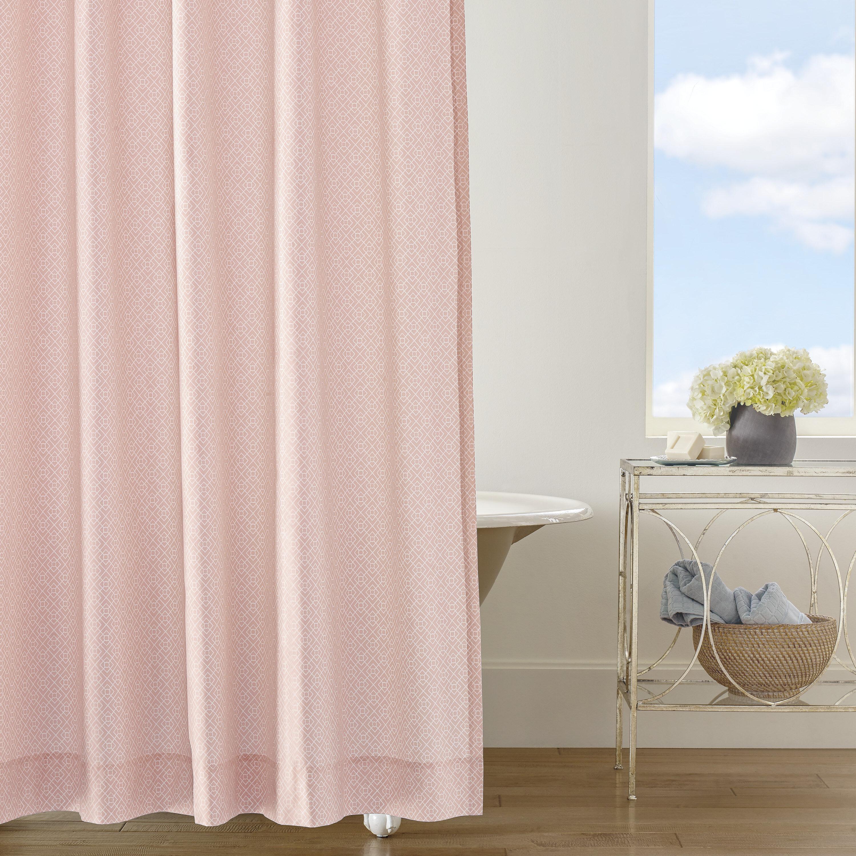 Companyc Diamond Lattice Cotton Solid Color Single Shower Curtain Wayfair