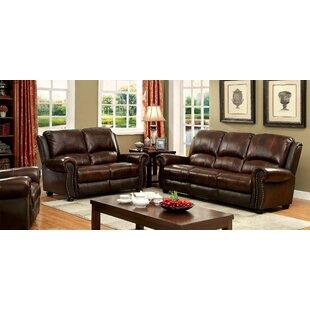 Gonsales 3 Piece Leather Living Room Set