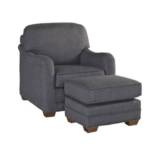 Stationary Armchair and Ottoman