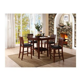 Savings Gerdes Counter Height 5 Piece Solid Wood Pub Table Set By Red Barrel Studio