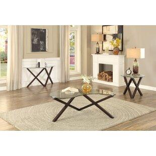 Latitude Run Wilhoite 3 Piece Coffee Table Set