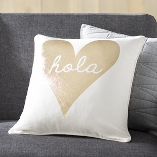 Yahya Hola Cotton Throw Pillow Cover
