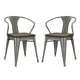 Williston Forge Ashlyn Metal Dining Chair (Set of 2)