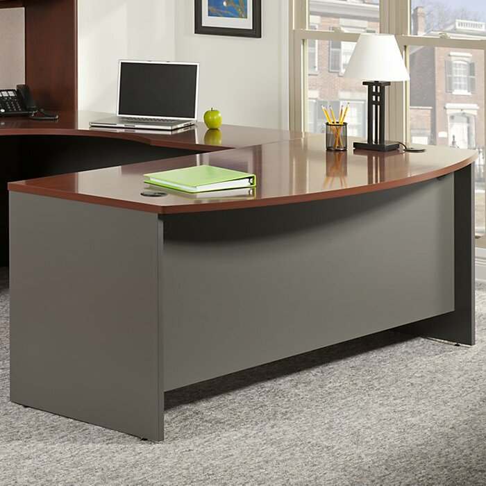 Bush Business Furniture Series C 72W X 30D Desk Shell with 3//4 Pedestal in Auburn Maple