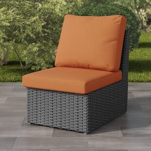 Killingworth Weather Resistant Resin Wicker Patio Armless Chair with Cushions