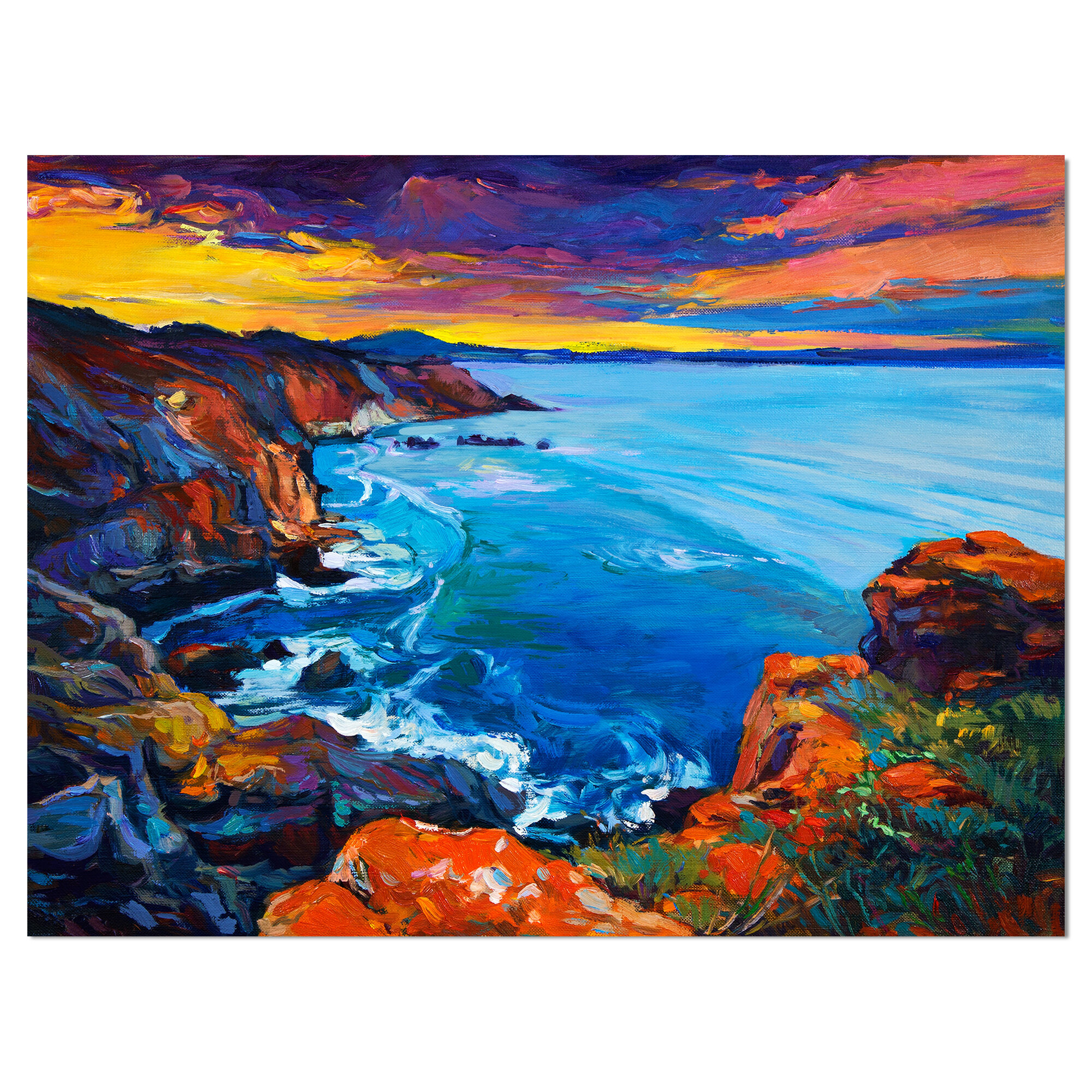"""12/""""X20/""""Nature cliffs scenic HD Canvas Print Painting Home Decor Poster Wall Art"""