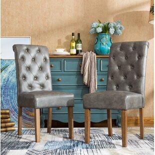 Alcott Hill Elda Tufted Upholstered Dining Chair (Set of 2)