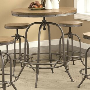 Little Italy Adjustable Pub Table by 17 Stories