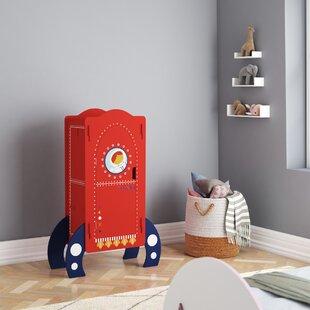 Glidewell Rocket Ship Mini 1 Door Wardrobe By Zoomie Kids