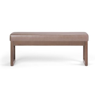 George Oliver HamLake Faux Leather Bench