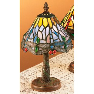 Dusky Hanging Head Dragonfly 12 Table Lamp