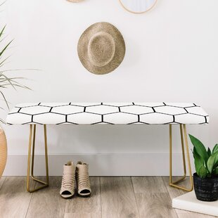 East Urban Home Allyson Johnson Faux Leather Bench