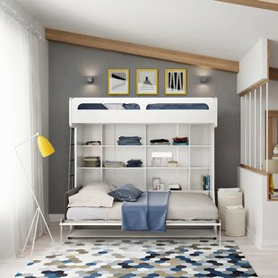 Reviews Gautreau Twin Over Full Murphy Bed with Table by Brayden Studio Reviews (2019) & Buyer's Guide