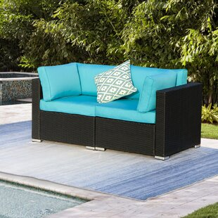 40 Inch Outdoor Loveseat Wayfair Ca